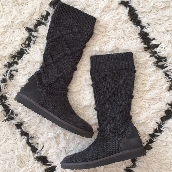 40b1efb7bd7 UGG argyle knit boots